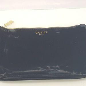 NEW Gucci Beauty Black Velvet Pouch Bag Clutch